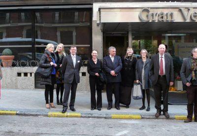 Algunos miembros de la Fundación Iberoamericana de Finlandia en su visita a Madrid junto al personal del Instituto.