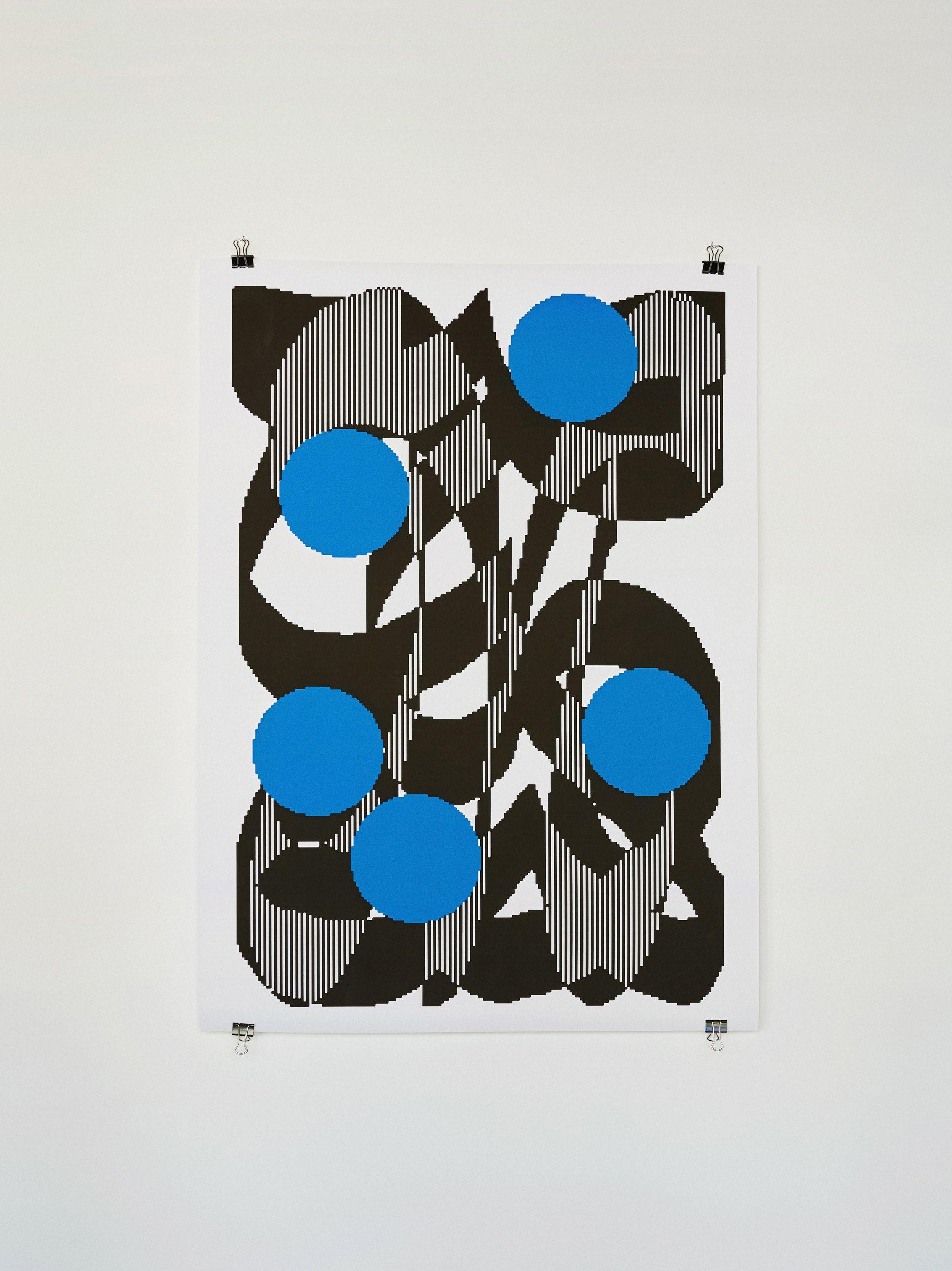 poster azul e preto