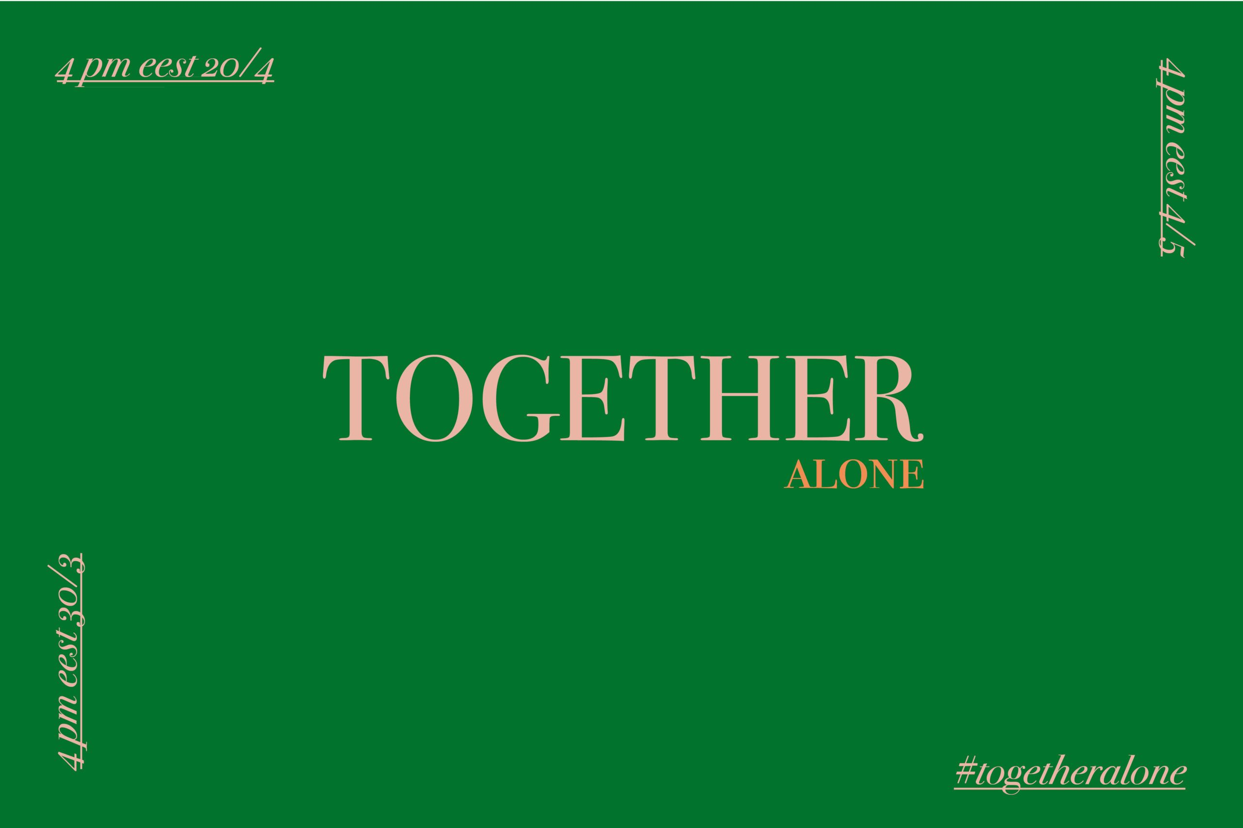 Imagen de texto Together Alone