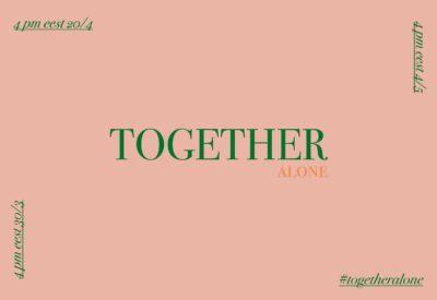 textp together alone en fondo rosa