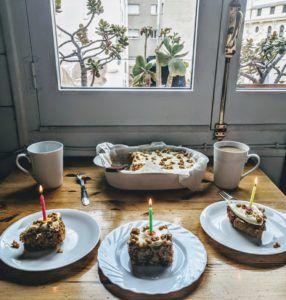 tarta y velas