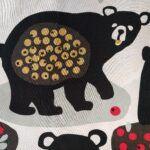 Estampado en tela, un oso