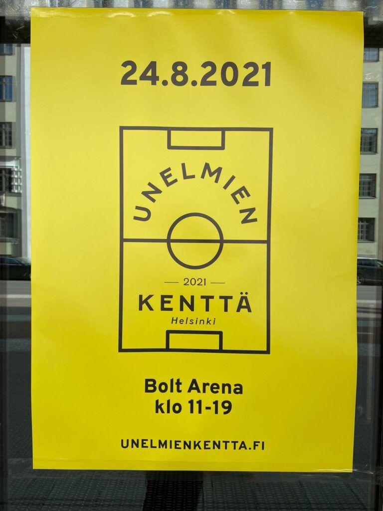 cartel anunciador amarillo