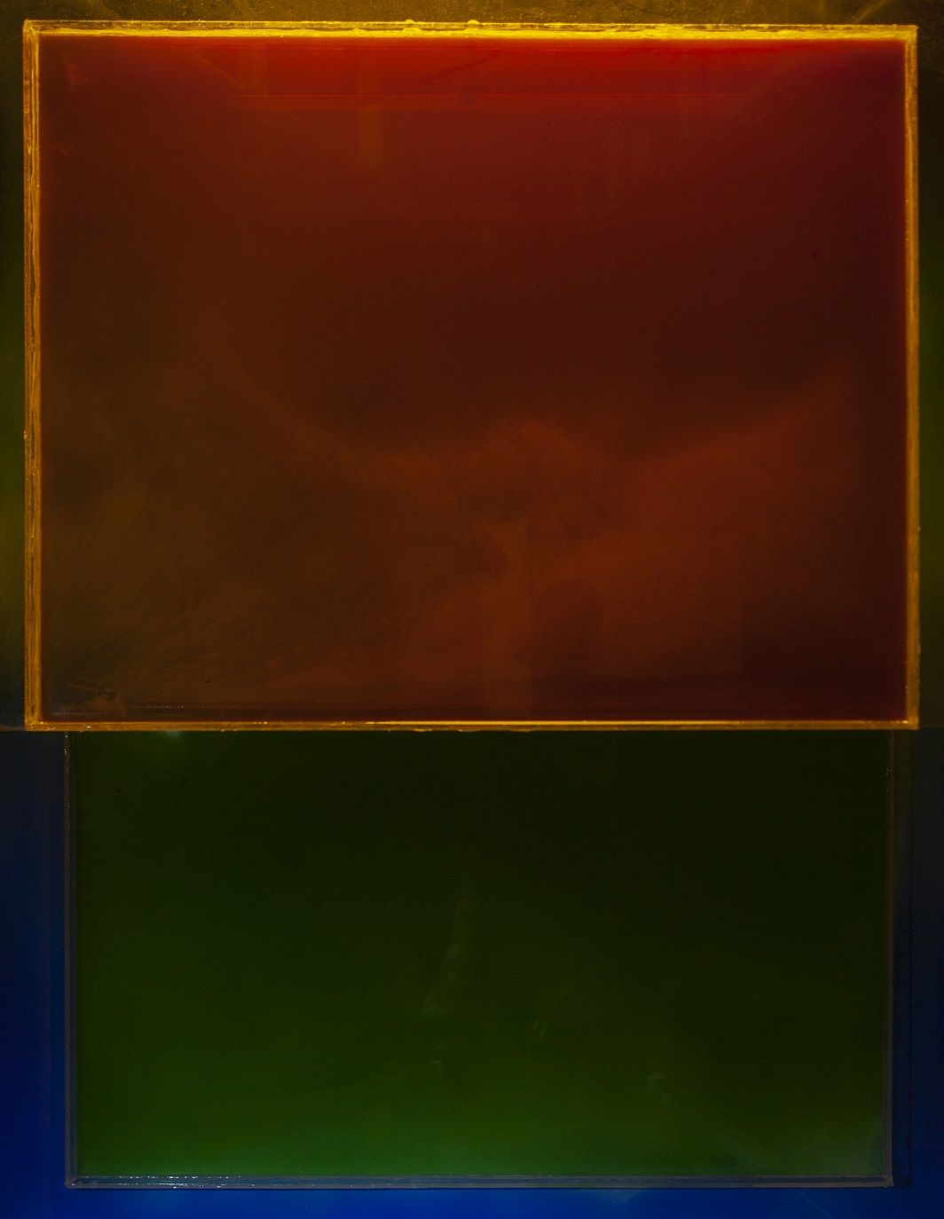 Obra de arte en rojo y verde