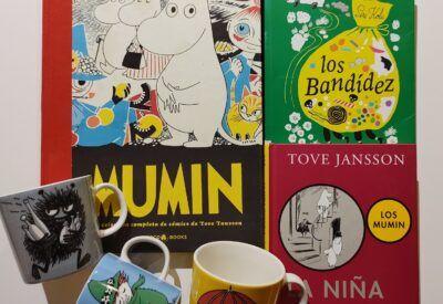 Tres libros infantiles y tres tazas