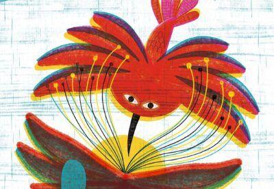 Ilustración de un colibrí