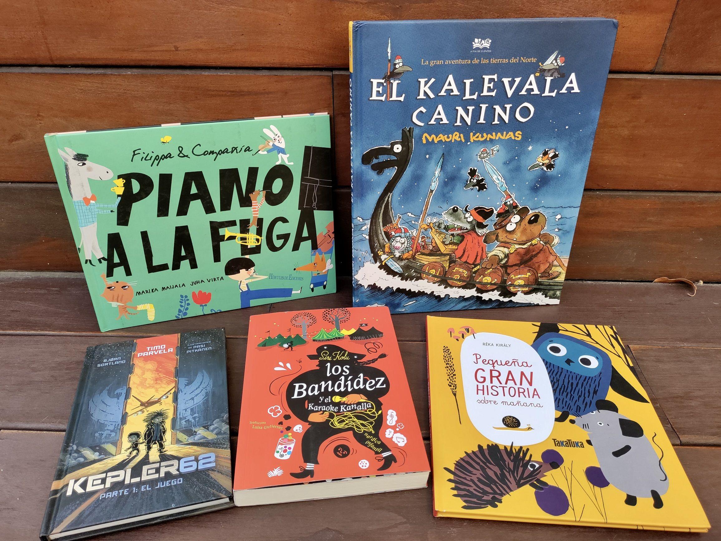 Portadas de cinco libros infantiles
