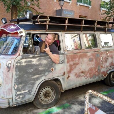 vieja furgoneta volkswagen